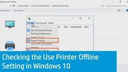 hp printer offline windows 10