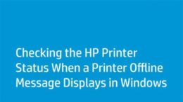 my hp printer offline