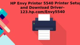 HP Envy Printer 5540 Printer Setup