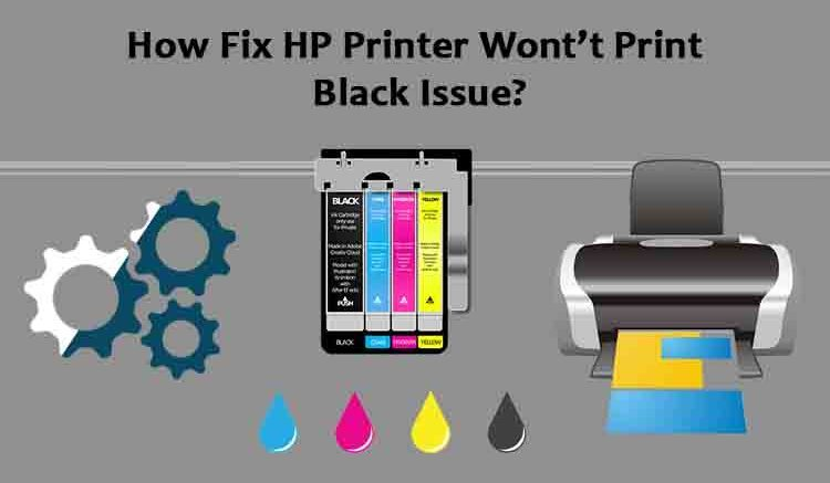 HP Printer would Print Black