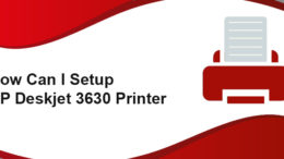 HP Deskjet 3630 Printer setup