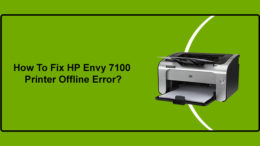 fix my hp envy 7100 printer offline error
