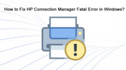 HP Connection Manager Fatal Error in Windows