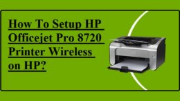 Setup HP Officejet Pro 8720 Printer Wireless on HP