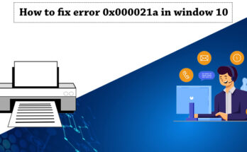 Fix Error 0x000021a in Windows 10