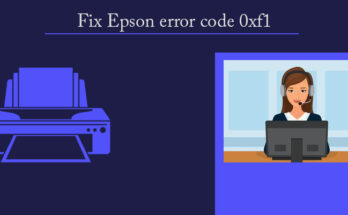 Fix Epson error code 0xf1