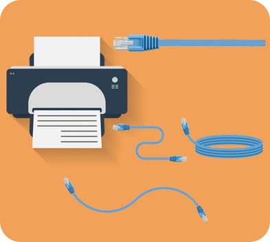 printer connect to network cable