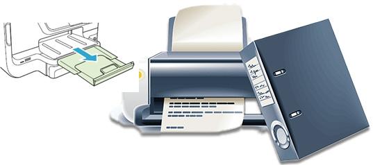 Printer paper load